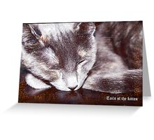 Tails of the kitten, dedicated to Monday's Greeting Card