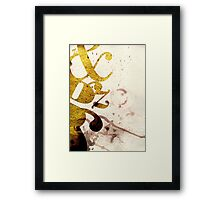 Typography Beauty Framed Print