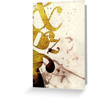 Typography Beauty Greeting Card