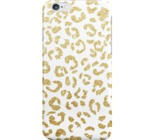 Modern leopard pattern luxury faux gold glitter iPhone Case/Skin