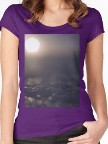 Sun on ice in winter surreal square Hasselblad medium format film surrealist analog photo surrealism Women's Fitted Scoop T-Shirt