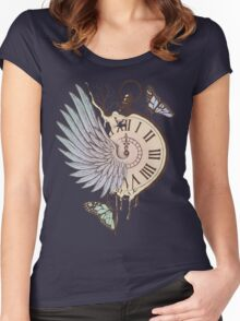 Le Temps Passe Vite (Time Flies) Women's Fitted Scoop T-Shirt