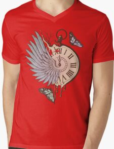 Le Temps Passe Vite (Time Flies) Mens V-Neck T-Shirt