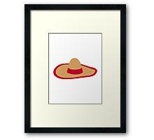 Sombrero hat Framed Print