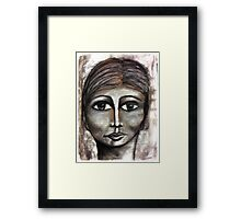 She was satisfied Framed Print