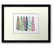 Andy's Ties Framed Print