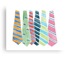 Andy's Ties Canvas Print