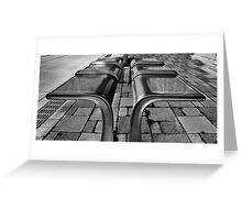 City Park Bench Greeting Card