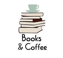 Books and coffee design Photographic Print