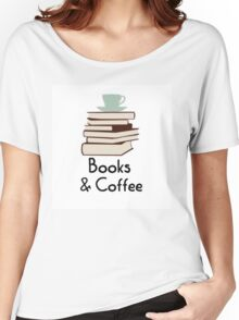 Books and coffee design Women's Relaxed Fit T-Shirt