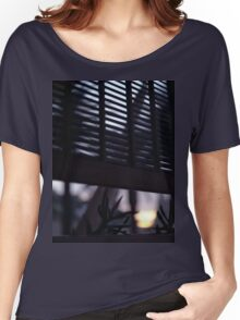 Beach house window at dawn Ibiza Spain square Hasselblad medium format film analog photographer Women's Relaxed Fit T-Shirt