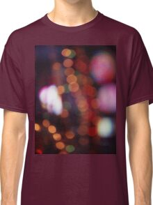 Red purple abstract photo of bokeh lights square Hasselblad 6x6 medium format film analogue photograph Classic T-Shirt