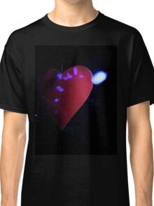 Saint Valentines day red love heart in darkness 35mm negative analog film photograph Classic T-Shirt