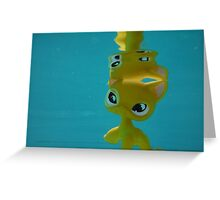 Littlest Pet Shop Cat in a POOL Greeting Card