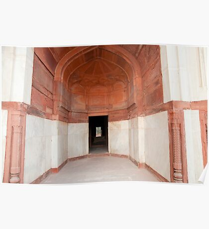 The architecture and doorways of the Humayun Tomb in Delhi Poster