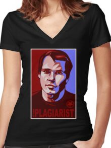 !Plagiarist Women's Fitted V-Neck T-Shirt