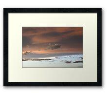 Pastel Sunset Framed Print
