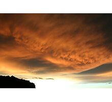Orange clouds (Kakadu) Photographic Print