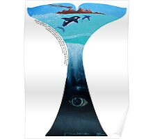 Whales should roam the oceans free, not live as entertainers in captivity Poster