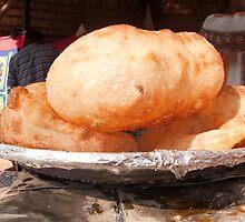 Close up of the Indian food deep fried dish of Bhature by ashishagarwal74
