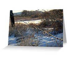 Fence Repair Greeting Card