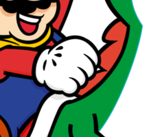 mario and yoshi Sticker