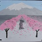 Mt Fuji Cherry Orchard by starbuggirl