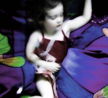 Holly Sleeping in the Beanbags by Elizarose