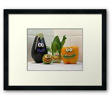 Vegan Vegetables Framed Print