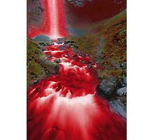 Red Waterfall Photographic Print
