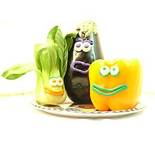 3 bright vegetables? Photographic Print