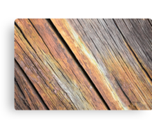 Weathered Wood Photography Canvas Print