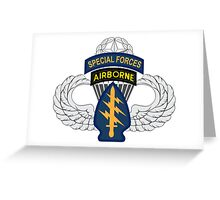 Special Forces Airborne Master Greeting Card