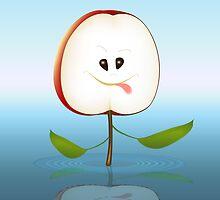 Apple Face Cartoon by lydiasart