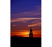 Lone Minaret of the Plaza de Espana at sunset Photographic Print