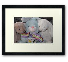 Three Easter Snuggly Bunnies Framed Print