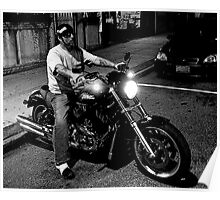 Night Biker Poster