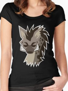 Cartoon Hyena  Women's Fitted Scoop T-Shirt