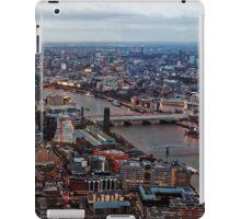 Aerial View of London at Twilight, United Kingdom iPad Case/Skin