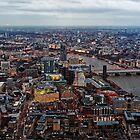 Aerial View of London at Twilight, United Kingdom by atomov