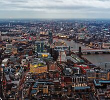 Aerial View of London at Twilight, United Kingdom by atomov
