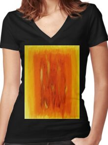 Spiritual Harmony Women's Fitted V-Neck T-Shirt
