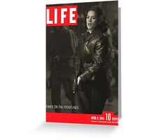 Peggy Carter Life Magazine Cover Greeting Card