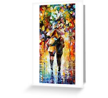 Lovers In The Rain  Greeting Card