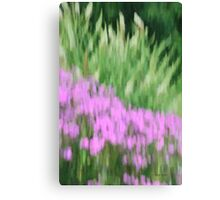 Abstract Purple and Green Flowers Photography - Summer Garden Canvas Print