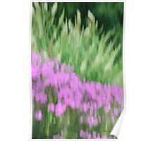 Abstract Purple and Green Flowers Photography - Summer Garden Poster