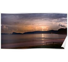 Umina Beach Storm Poster
