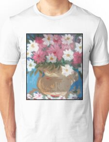 pottery with flowers Unisex T-Shirt