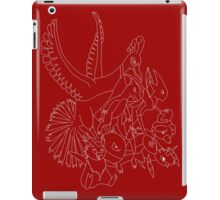Red Pokemon (Generations 1/2) (White Outline) iPad Case/Skin
