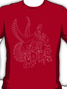 Red Pokemon (Generations 1/2) (White Outline) T-Shirt